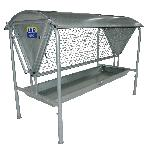 Double sided hayrack and Manager unit 2440mm (8') long x 1695mm high x 1355mm wide. Lid optional.